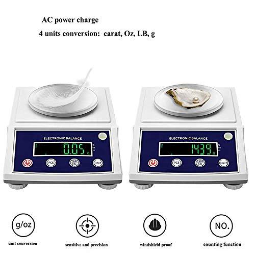 NEWTRY 300gX0.001g High Accuracy Digital Lab Scale Analytical Balance Lab Electronic Precision Balance Scale Weighing Carat/g/lb/oz (110VUSPlug, 60HZ, MAX 300g 0.001g)