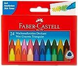 Faber-Castell 120024–Triangolare Pastelli a Cera 24er Scatola di Cartone