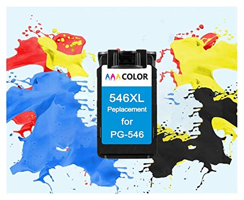 Toepasselijk for remanufactured 545XL 546XL inktcartridge for Canon PG545XL CL546XL Pixma IP2850 MX495 MG2450 MG2550 MG2950 NS28 printer (Color : 1Color 546XL)
