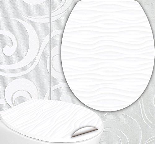 Adesivo per Sedile WC 'NEW AGE', di Design, decorazione per WC con 2 adesivi per mattonelle