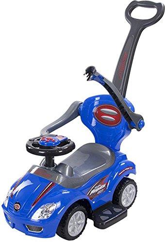 BSD Baby Spielzeugauto 381 Mega Car Deluxe Blue / BLAU Lauflernhilfe Lauflernwagen Kinderfahrzeuge