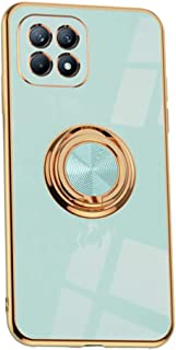 Hicaseer Case for Oppo Reno4 SE,Ultra-Thin Ring Shockproof Flexible TPU Phone Case with Magnetic Car Mount Resist Durable ...