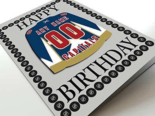 """MyShirt123 Geburtstagskarte, Motiv: Eihl Elite Eishockey League, mit Namen, jeder Nummer, jedes Team, Geburtstagskarte mit Aufschrift """"Any Other Team"""""""