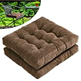 Tiita Outdoor Chair Cushions Square Floor Pillows Thicken Tufted Patio Seat Cushion Pads for Yoga Meditation Garden Living Room Balcony Office Set of 2, 22x22 Inch, Coffee