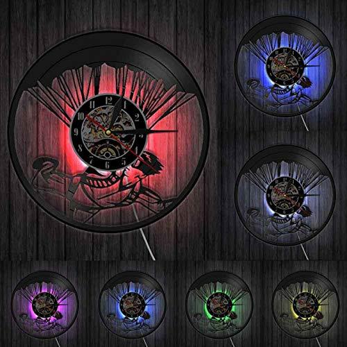 szhao Reloj de Pared 3D Reloj Stimulus Sport Satt Paracaidismo Paracaidista Regalo