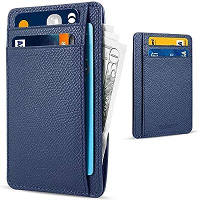 Balansea Front Pocket Wallet Minimalist Genuine Leather Slim Wallet RFID Blocking Credit Card Slots Holder for Men & Women