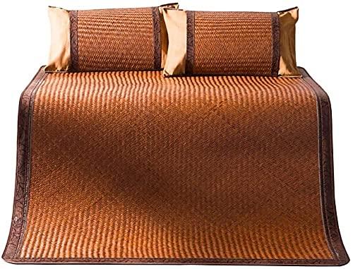 NCHEOI Cama de Estera de bambú/de Verano enfriamiento de Verano/colchón de ratán, Vid de montaña Natural Natural (Size : 90 * 190cm)