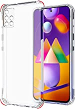 Thegiftkart Best Camera Protection Back Cover Case For Samsung M31s Transparent Ultra Clear Soft Case Slim Protective Design Inbuilt Dust Plugs Anti Slip Grip Transparent