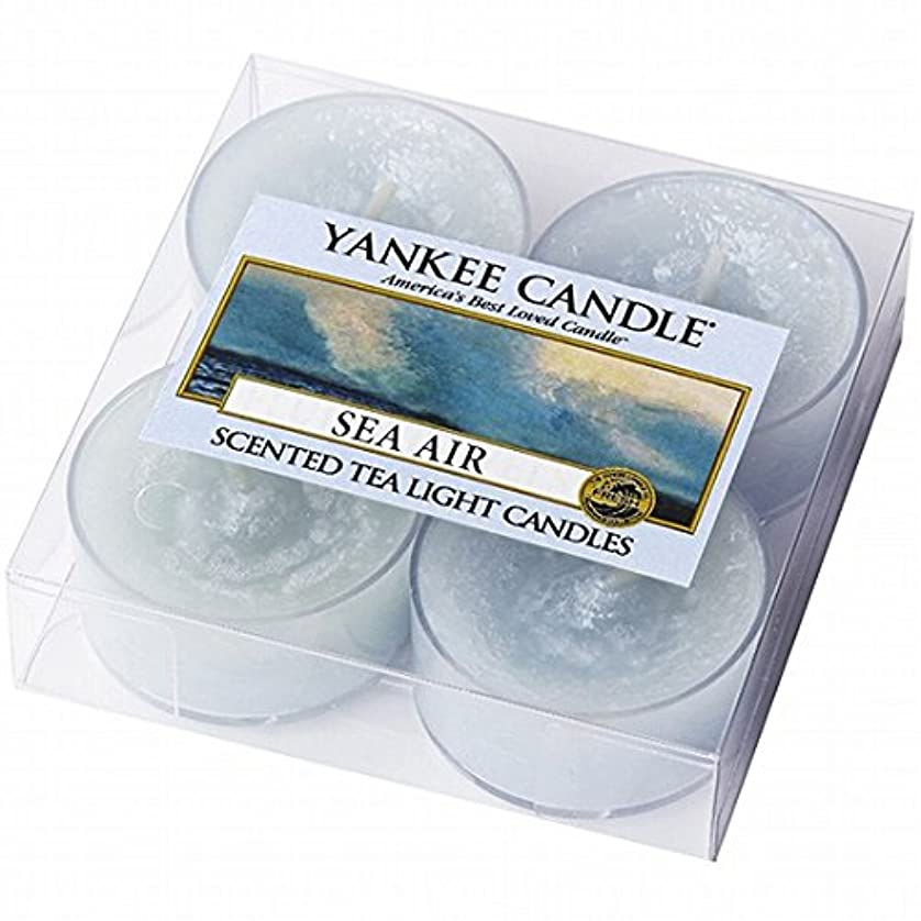 魚分割勃起ヤンキーキャンドル(YANKEE CANDLE) YANKEE CANDLE クリアカップティーライト4個入り 「シーエアー」