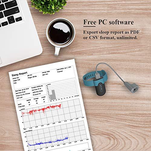 Sauerstoffsättigungs-Monitor, am Handgelenk tragbarer Sauerstoffmonitor, Überwachung des Sauerstoffpegels im Schlaf mit Vibrations-Feedback, Bluetooth Herzfrequenz Monitor - 5