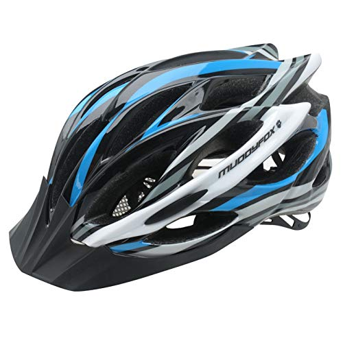 Muddyfox Lithium Helmet Aerodynamic Mountain Bikers Lightweight Accessories Black/Blu/Whit M