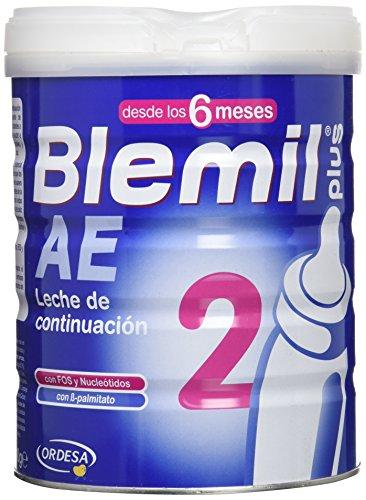Blemil Plus 2 AE Leche para lactantes, 1 unidad 800 gr. Efecto Anti-Estreñimiento. A partir de 6 meses