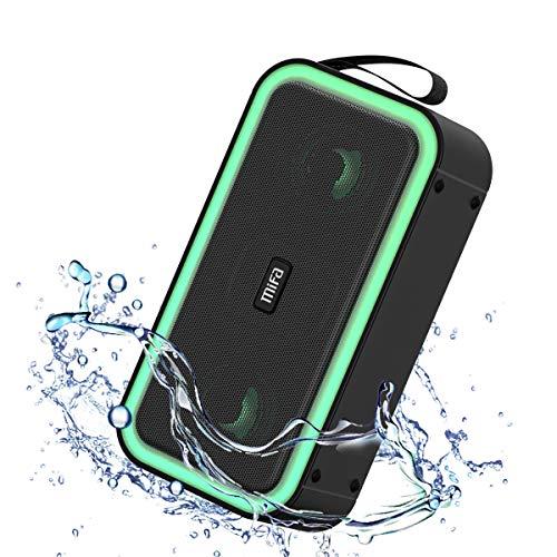 Bluetooth LED Lautsprecher, MIFA F60 tragbare drahtlose Stereo Soundbox IPX7 Party Outdoor im Freien, unterstützt TF-Karte USB-Flash Aux-In Freisprechanruf