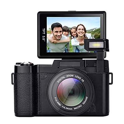 GordVE Digital Camera,24.0 MP 3.0 Inch 180°rotating screen Camera Vlogging Camera Digital Zoom Camera Video with Flash Light HD 1080P from GordVE