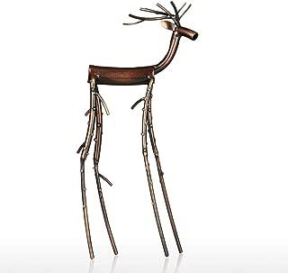 Animal Figurines Black Long Leg Moose Statue Iron Sculpture Home Decoration Crafts Artwork for Office Decor