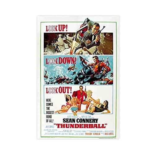 Retro-Thunderball-Poster aus Leinwand, für Schlafzimmer, Sport, Landschaft, Büro, Raumdekoration, Geschenk, 30 x 45 cm