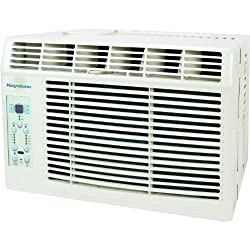 Keystone 6,000 BTU Window-Mounted Air Conditioner with Follow Me LCD Remote Control, 6000, White