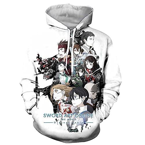 CYANDJ-Sword Art Online-Sudaderas con Capucha Unisex, suéteres Impresos en 3D, Jerseys de Hombre, Sudaderas Informales Transpirables, Chaquetas Frescas, Ropa para niños-110