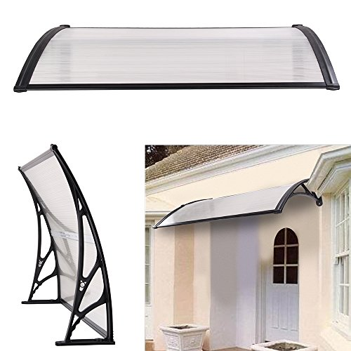 DHOUTDOORS Door Canopy Awning Shelter Front Back Porch Out Door Shade Patio Roof 75 x 120CM