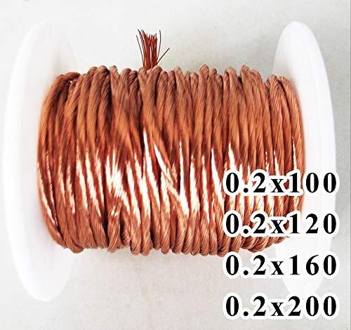 Without brand XXF-gydx, 1m 0.2x100 0.2x120 0.2x160 0.2x200 Actions Litz Torons Fil de cuivre émaillé/Tresse Multi-brins de Fil (Couleur : 0.2x200, Tai