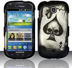 For Samsung Galaxy Stellar 4G i200 (Verizon) Rubberized Design Cover - Spade Skull