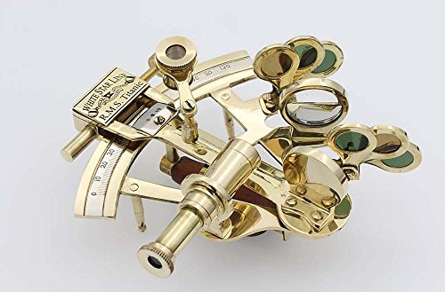Roorkee Instruments India Titanic Kuriositäten Messing 12,7 cm Sextant-White Star line-solid Messing Casanova nauticals Sextant