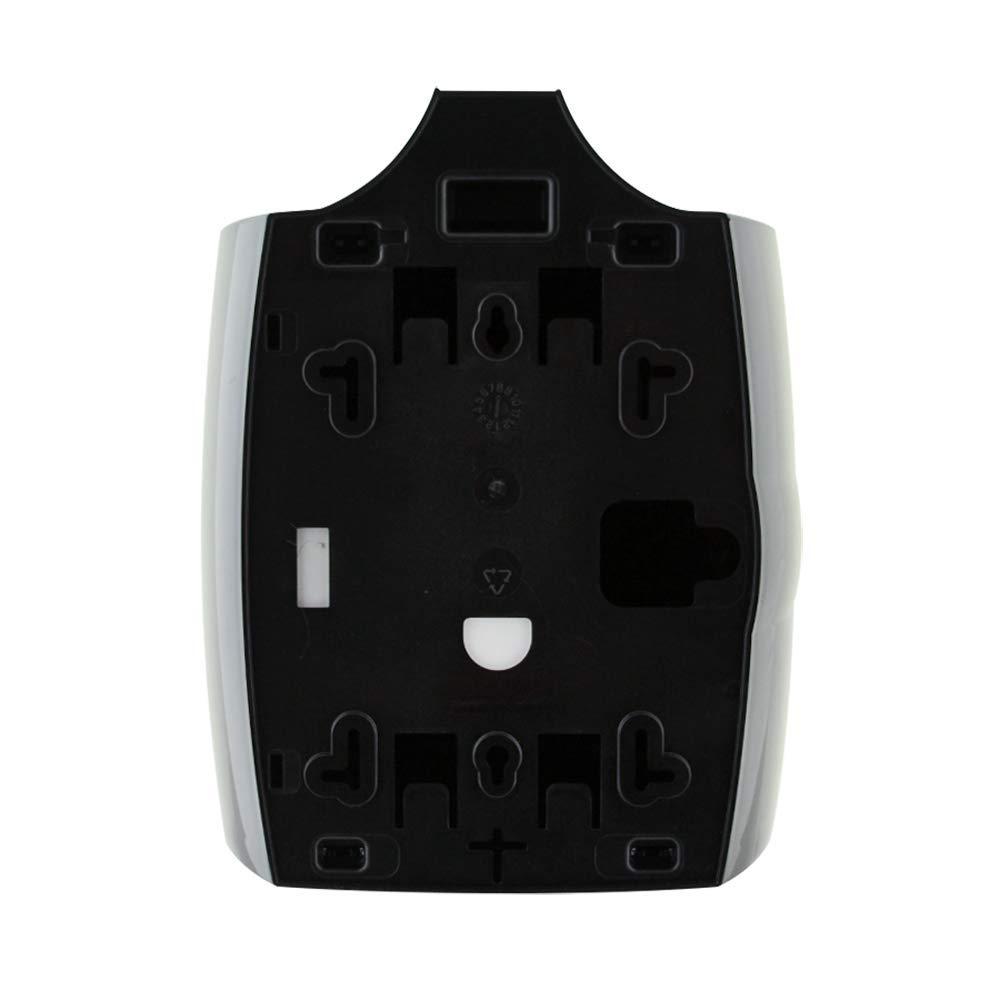 Zogics Gym Wipes Dispenser, Wall-Mounted, Upward Pull, Black Plastic
