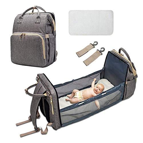 FGDJTYYJ Baby Diaper Bag - Multifunctional Baby Diaper Bag, 4 in 1 Convertible Baby Diaper Bag, Lightweight Waterproof Baby Travel Bags, Large Maternity Diaper Bags