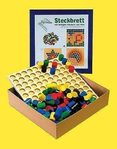 EgerhomHommes 2194 Plug-jeu de la série de hauteur. 110 fiches Couleurées en bois 24 cm