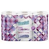Marca Amazon - Presto! Papel de cocina extragrande - 6 rollos de 3 capas (80 hojas x rollo)