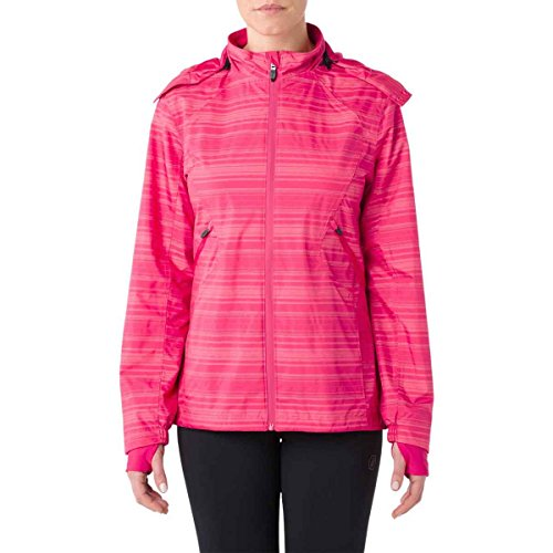 ASICS Women's Storm Shelter Jacket, Cosmo Pink, Medium