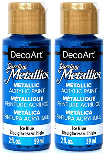 2-Pack - DecoArt Dazzling Metallics Acrylic Colors - Blue, 2-Ounces Each