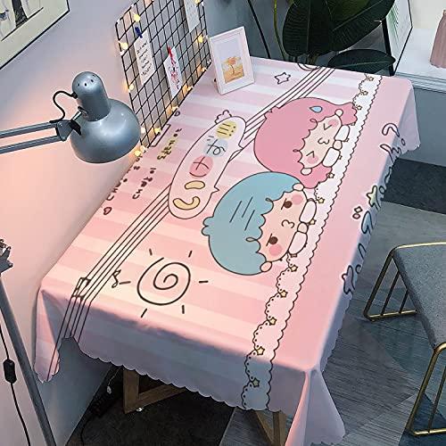 Tablecloth Wipeable - Tablecloth wipeable falso lino al agua, resistente al agua, rectangular, mesa 160 x 200 cm