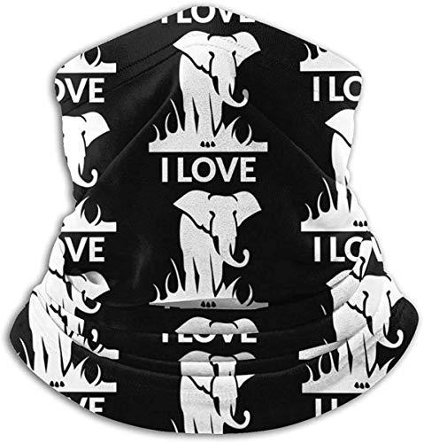 asdew987 Encanta a los elefantes. Braga para el cuello, calentador de oídos, bufanda, máscara facial, bandanas
