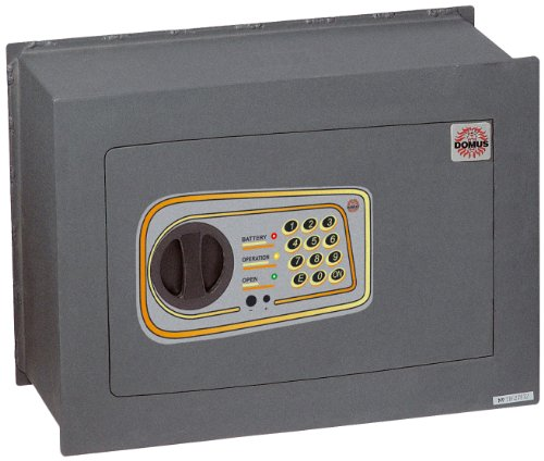 Domus DL/4 Cassaforte a Muro Elettronica, Grigio Scuro