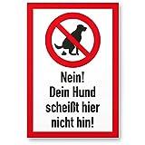 IHR HUNDE VERBOTSSCHILD: Gehen Sie sicher, dass ihr Grundstück / Privatgrundstück kein Hundeklo / Hundetoilette mehr ist. Vermeiden Sie Hundehaufen / Hundekacke / Hundekot auf ihrem Rasen / Wiese KLARE BOTSCHAFT AN HUNDEHALTER: Kommunizieren Sie an H...