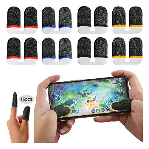 Transpirable Disparos sensibles Pantalla táctil de Dedo Manga Funda de Dedo de Juegos Móviles Mangas para los dedos para juegos Juegos móviles para Android y iOS Reglas de supervivencia(16 piezas)