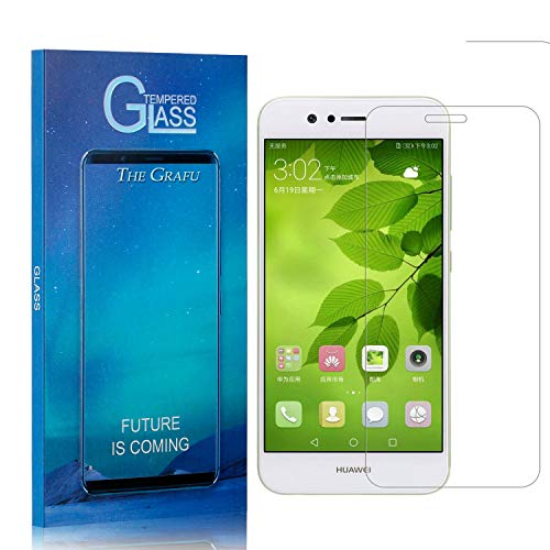 Find Discount Screen Protector Compatible with Huawei Nova 2, The Grafu 9H Ultra Clear Tempered Glas...