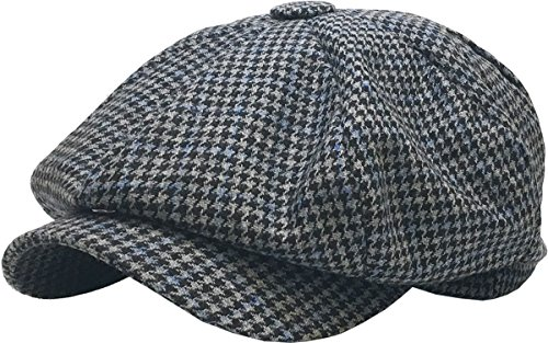Newsboy Ivy Ascot Hat Wool Blend Gatsby Plaid Patch Herringbone Golf Driving (Large/X-Large, (320)...