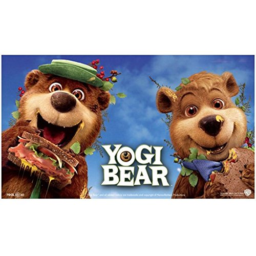 Yogi Bear and Boo Boo Eating Sandwhiches From Picnic Baskets Smiling 8 x 10 Inch Photo