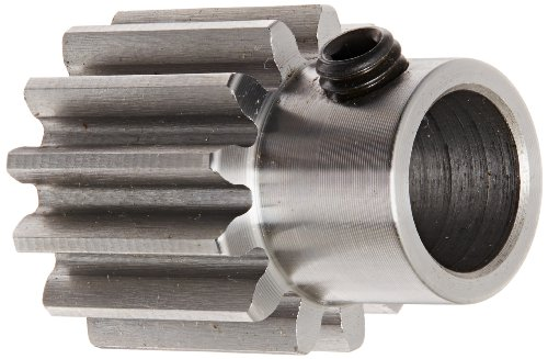 Boston Gear YD15 Spur Gear, Steel, Inch, 12 Pitch, 0.625' Bore, 1.417' OD, 1.000' Face Width, 15 Teeth