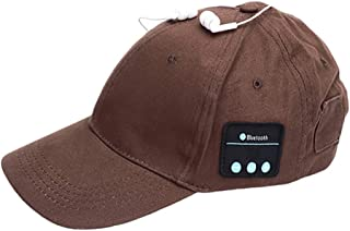 GLJJQMY Fashion Music Bluetooth Headset Outdoor Sports Hat Multifunction Bluetooth Earphone (Color : Bronze)