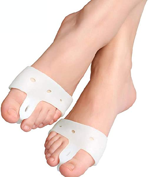 Mufuny 1 Pair Silicone Big Toe Corrector Orthotic Pads Foot Care Biological Hallux Valgus Orthosis Bunion Corrector Forefoot Pad Tool