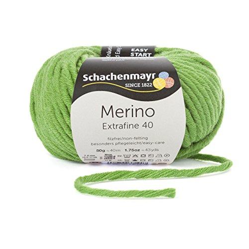 Schachenmayr Merino Extrafine 40 9807555-00373 apfel Handstrickgarn, Schurwolle