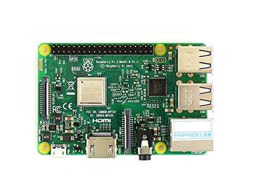 Waveshare Raspberry Pi 3 Model B the Third Generation Kit 1.2GHz 64-bit quad-core ARM Cortex-A53 1GB RAM Supports Wireless Lan and Bluetooth