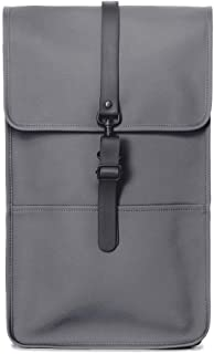 Luxury Fashion   Rains Mens BACKPACKCHM Grey Backpack   Fall Winter 19