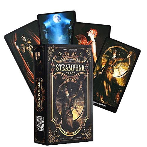 XYAM 78PCS Tarot Cards The Steampunk Tarot Table Deck Board Game Card for Family Gathering Party Playing Card Games
