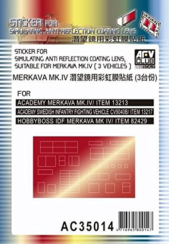 AFV Club 1:35 - Anti-Reflection Lens (Sticker) for Merkava Mk IV - AFVAC3514