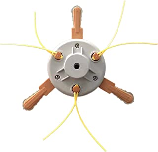 Manyo - Cabezal de desbrozadora universal, cabezal cortabordes de nailon y cuchillas de plástico para moisonnea/cortacésped, cortacésped