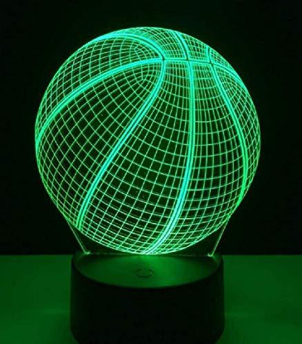 3D LED Nachtlicht Basketball Action Abbildung 20 Farben Touch Optische Täuschung Tischlampe Home Decoration Modell Smartphone Bluetooth-Steuerung